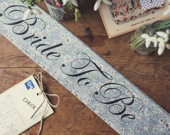 LIMITED EDITION Vintage Style Hen Party Sash - Classy Alternative Hen Do / Bridal Shower /  Bachelorette Party - as seen in Mollie Makes