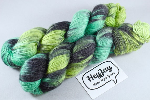 Hand Dyed Sock Yarn Merino, Alpaca, Nylon Blend - Gamora
