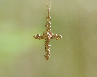 Vintage Black Hills Gold Cross Necklace