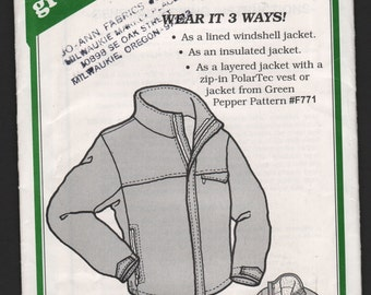 Green Pepper F771 UNCUT Skyline Jacket lined insulated polartec windshell sewing pattern ID626