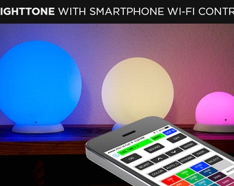 """Brighttone Smart Audio Processing RGB LED Lamp with iPhone and Android Applications control 10"""" WiFi - one or many in the set"""