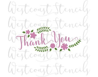 Thank You Stencil, 2 pieces, Cookie, Cake, Culinary, Craft, Card Making, Scrapbooking