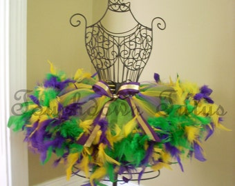Mardi Gras Tutu with feathers
