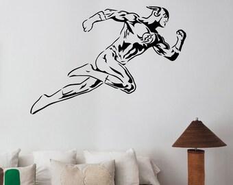 Flash Wall Sticker Vinyl Decal  Comics Superhero Art Decorations for Home Living Room Bedroom Teen Kids Boys Room Decor flh4
