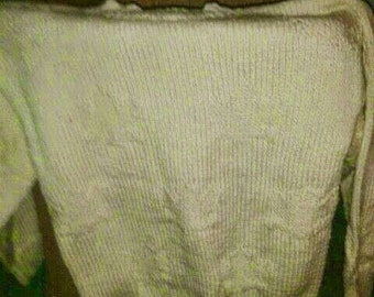 Woman s/m white sweater gold with jewels relief