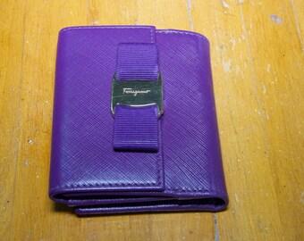 Authentic Ferragamo Bow Leather Wallet