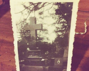 Small 1930's Cemetery Photograph