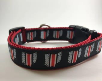 RED Ohio State Buckeyes Dog Collar Ohio OSU Bucks