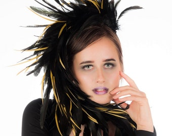 Coco - Black Feather Headpiece