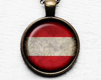 Austria Austrian Österreich Flag Pendant & Necklace