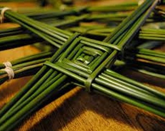 Make Your Own St Brigid's Cross From Authentic Wild Irish Rushes, Popular For Celtic Religious Weaving, Basket and Pattern supplies.
