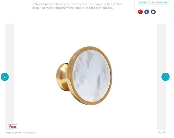 Mother of Pearl Knob