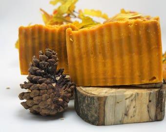Goat Milk Cold Process Soap-moisturize, Orange & Cinnamon Leaf Essential Oils - made with Orange Peel Powder for gentle exfoliant
