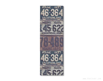 Bookmark Maine License Plates   Stocking Stuffer   Gifts Under 5   Book Lover   Maine Pride