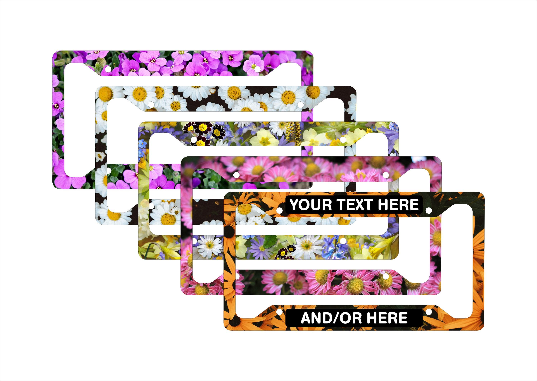 Nummernschild Rahmen Blumen für Frauen Nummernschild Rahmen
