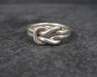 Vintage Mexican Sterling Love Knot Ring Size 8.25