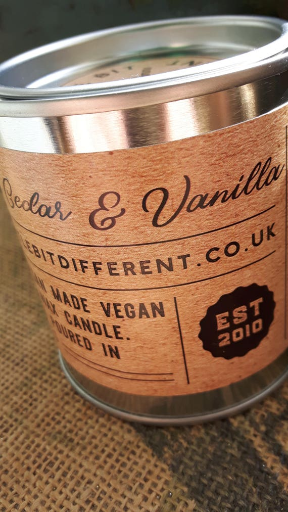 Himalayan cedar and vanilla scented  man candle.  Vegan candle. Candles for men.  Soy wax candle.  Scented for men.  Handmade in Wales, UK