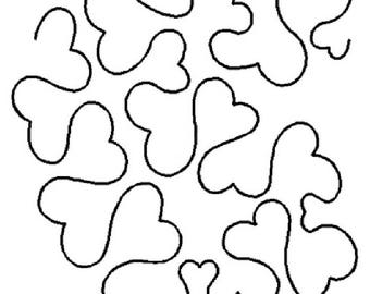 Heart Stipple Quilt Stencil EL044