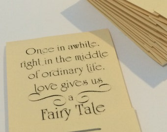 Love Gives us a Fairy Tale Inspirational Ivory Set of 10 Matchbook Mini Notepad Notebooks