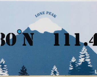 Locate/Love Big Sky, MT Sticker