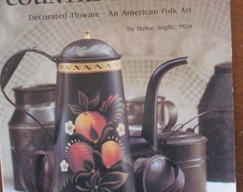 """Folk Art Decorative painting 1984 book """"Our Country Heritage"""" by Helen Jeglic 50 pages used book"""