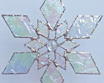 stained glass snowflake suncatcher (design 1B)