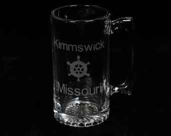 Customized Giant Glass Laser Engraved Mug 24oz