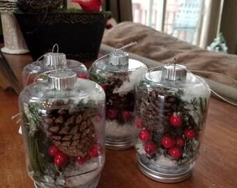 Winterberry Mason Jar Ornaments