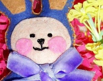Plush Purple Easter Plush Bunny, Easter Basket Bunny, Bunny plush, Easter gift