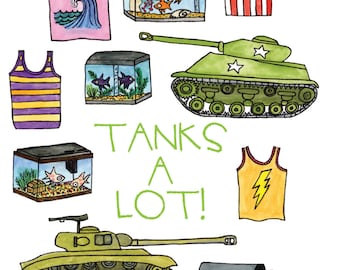 Tanks a Lot! Thank you card