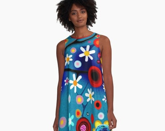 Blue Dress Daisies