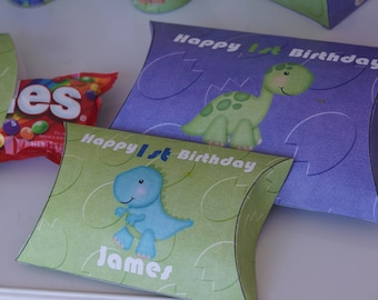 Dinosaur Pillow Boxes, Dinosaur Party boxes,Dinosaur favor boxes,Dinosaur Party Theme. Dinosaur Birthday party,Dinosaur Baby Shower. 10p/set