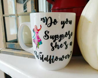 Alice in Wonderland Coffee Mug // Disney // Floral Print // Gifts for Her