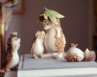 Realistic Fairy Garden Resin hedgehog