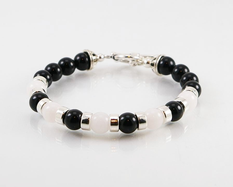 deals necklace groupon goods or gg beaded genuine mens black s bracelet onyx latest men