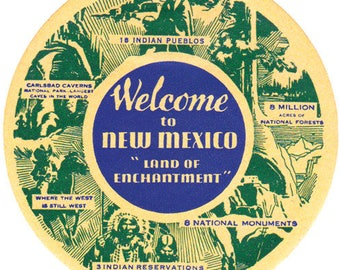 Vintage Style New Mexico Land of Enchantment Travel Decal sticker