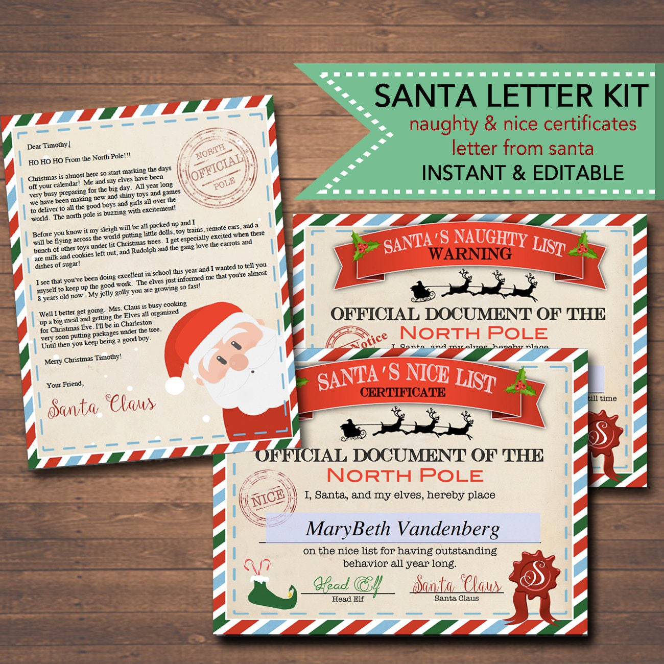 Editable nicenaughty certificates santa letter christmas zoom xflitez Choice Image