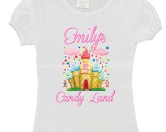 Candyland Ice Cream Castle Birthday Shirt Boy or Girl option