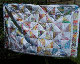 Handmade quilt for a single bed