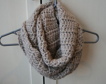 Ladies' Chunky Infinity Button Scarf Cowl Crochet Pattern