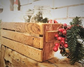 Authentic hand made Barn wood and Lath crate