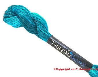 Variegated Embroidery Floss ThreadworX 11382 Blue Swirl