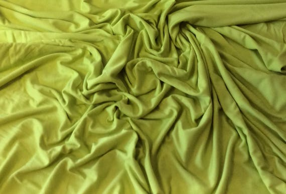 Apple green cotton/viscose jersey fabric