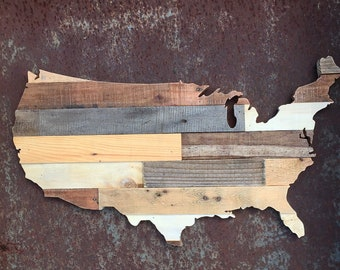 Rustic United States of America Wood Sign | USA pallet Sign | Rustic Home Decor