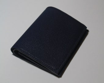 CHÉRI Handmade - genuine leather compact wallet Navy