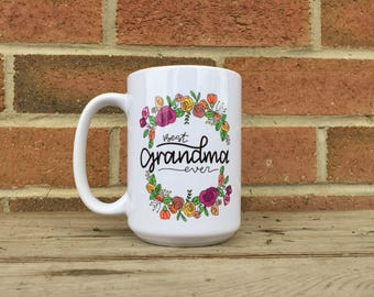 Pregnancy announcement mug, grandma mug, new grandma, grandparent mug, new grandparents, pregnancy reveal gift, best grandma ever