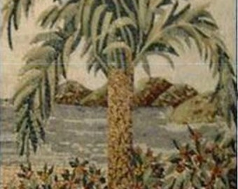 Palm Mosaic Handmade Mural