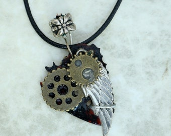 Guitar Pick Necklace  - MechanicaL AngeL