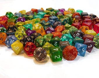 Assorted Dice Set: 18 total, 3 of each, with dice bag