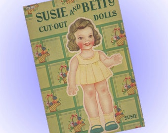 1944 Paper Dolls and Clothes Samuel Lowe Kenosha WI